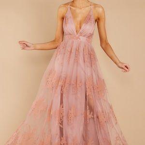 Ever after blush pink dress -red dress boutique